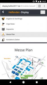 Menüpunkte der mobilen Version